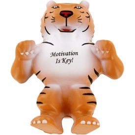 Promotional Tiger Mascot Stress Ball