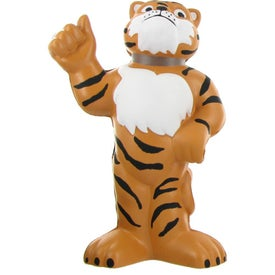 Customizable Tiger Mascot Stress Ball with Your Logo