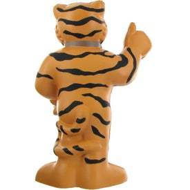 Customized Thumbs Up Tiger Mascot Stress Ball
