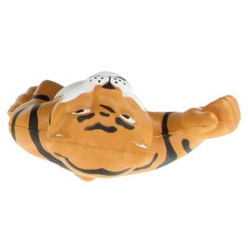Customizable Tiger Mascot Stress Ball for Your Organization