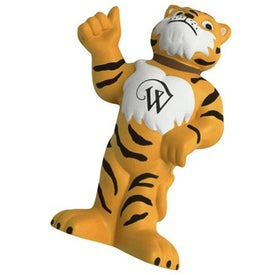 Thumbs Up Tiger Mascot Stress Ball