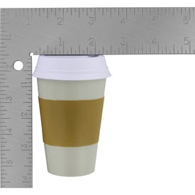 To Go Coffee Cup Stress Ball Imprinted with Your Logo