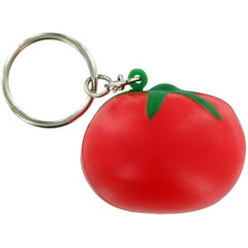 Logo Tomato Keychain Stress Toy
