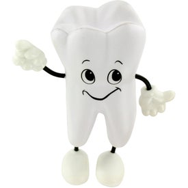 Tooth Figure Stress Ball Branded with Your Logo