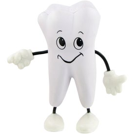 Branded Tooth Man Figure Stress Toy