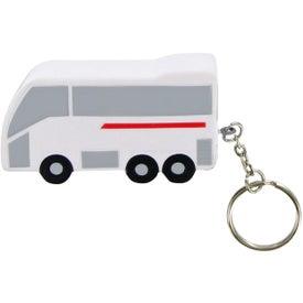 Logo Tour Bus Keychain Stress Toy