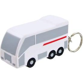 Personalized Tour Bus Keychain Stress Toy