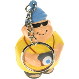 Personalized Tourist Bert Stress Reliever Keyring