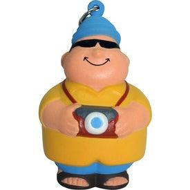 Customized Tourist Bert Stress Reliever Keyring