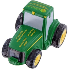 Monogrammed Tractor Stress Toy