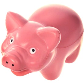 Pig Stress Ball Branded with Your Logo