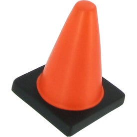 Logo Traffic Cone Stress Reliever