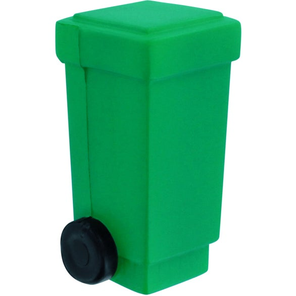 Green Trash Can   Recycling Bin Stress Reliever. Promotional Trash Can   Recycling Bin Stress Relievers with Custom