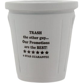Promotional Trash Can Stress Ball
