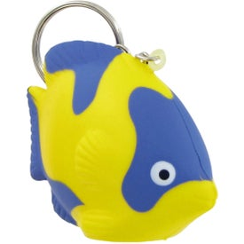 Logo Tropical Fish Keychain Stress Toy
