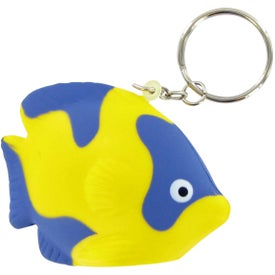Tropical Fish Keychain Stress Toy for Promotion