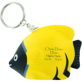 Promotional Tropical Fish Stress Ball Key Chain