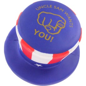 Uncle Sam Hat Stress Ball for Advertising