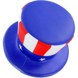 Uncle Sam Hat Stress Ball Printed with Your Logo