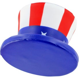 Uncle Sam Hat Stress Ball with Your Slogan