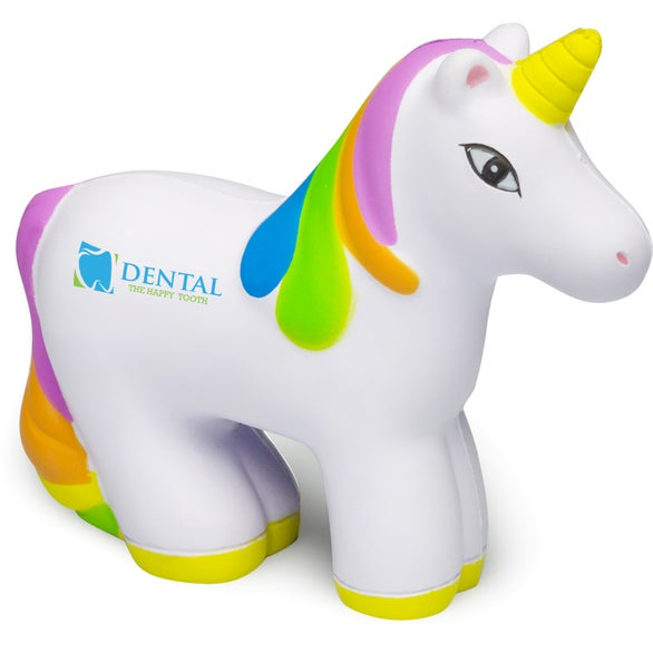 White Unicorn Stress Ball