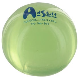 Round UniQgel Stress Ball Squeezer Branded with Your Logo
