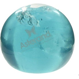 Round UniQgel Stress Ball Squeezer with Your Slogan