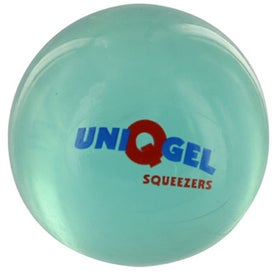 Round UniQgel Stress Ball Squeezer for Advertising