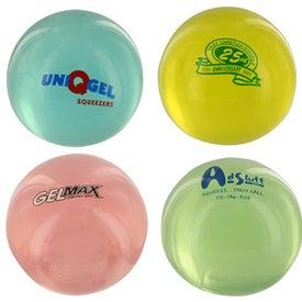 Round UniQgel Stress Ball Squeezer