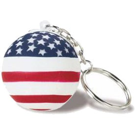 Patriotic Stress Ball Key Chain Printed with Your Logo
