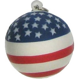 Patriotic Stress Ball Key Chain for Customization