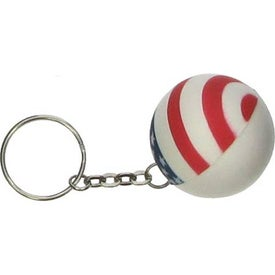Patriotic Stress Ball Key Chain Imprinted with Your Logo
