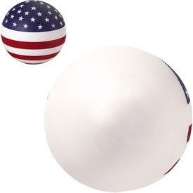 Patriotic Stress Ball Imprinted with Your Logo