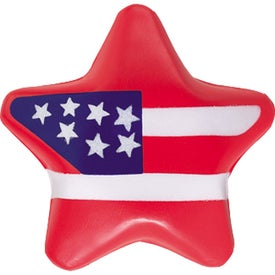 Patriotic Star Stress Ball for Advertising