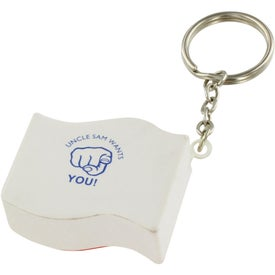 Branded US Flag Key Chain Stress Ball