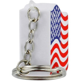 Logo US Flag Key Chain Stress Ball