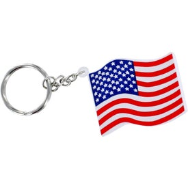 US Flag Key Chain Stress Ball