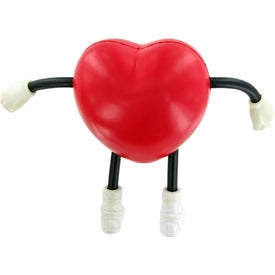 V Heart Figure Stress Toy Imprinted with Your Logo