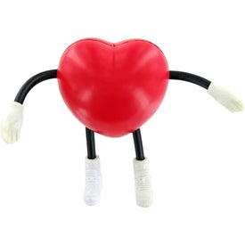 Monogrammed V Heart Figure Stress Toy