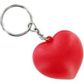 Company V Heart Keychain Stress Toy