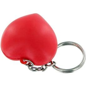Custom V Heart Keychain Stress Toy
