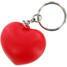 V Heart Keychain Stress Toy Printed with Your Logo