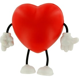 Personalized Valentine Heart Figure Stress Ball
