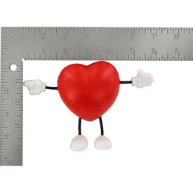 Valentine Heart Figure Stress Ball for Your Organization