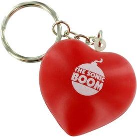 Valentine Heart Stress Ball Key Chain for Advertising