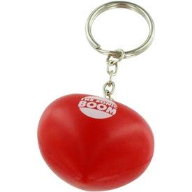 Monogrammed Valentine Heart Stress Ball Key Chain