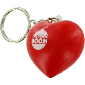 Valentine Heart Stress Ball Key Chain for Your Company