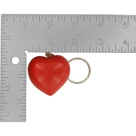 Valentine Heart Stress Ball Key Chain with Your Logo