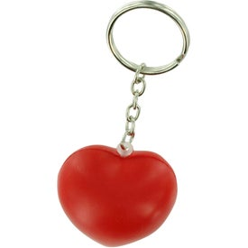 Valentine Heart Stress Ball Key Chain Printed with Your Logo