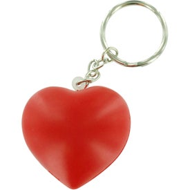 Custom Valentine Heart Stress Ball Key Chain